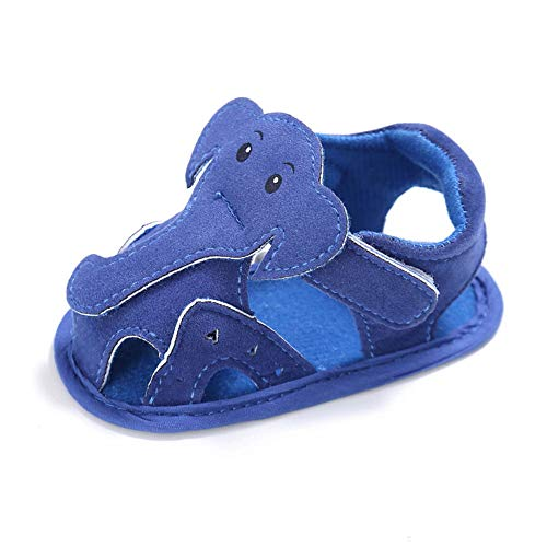 QINJLI Sandalias Bebe Verano 0-1 años de Edad, Zapatos de niño Respirable de Dibujos Animados Elefante Inferior Suave Deslizamiento 11-13cm