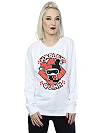 DC Comics Women's Chibi Harley Quinn Badge Sweatshirt