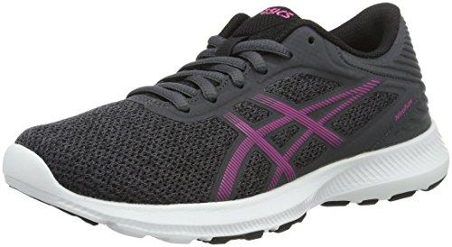 Asics Damen Nitrofuze Gymnastikschuhe, Grau (Dark Steel/Pink Glow/Black), 39 EU