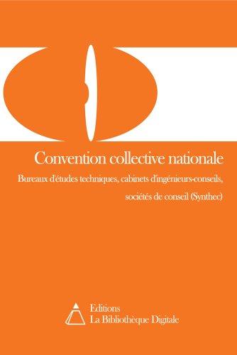 Convention Collective Nationale Des Bureaux D Etudes Techniques Des