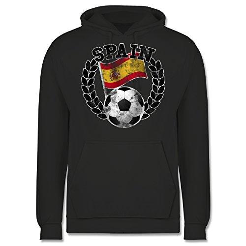 EM 2016 - Frankreich - Spain Flagge & Fußball Vintage - Männer Premium Kapuzenpullover / Hoodie Dunkelgrau