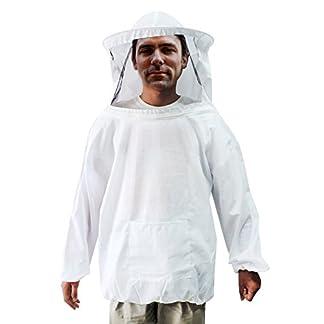 Farm & Ranch Beekeeping Jacket White Jacket Fencing Veil for Professional & Beginner Beekeepers 18