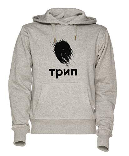 Jergley Trip Unisex Grau Sweatshirt Kapuzenpullover Herren Damen Größe M | Unisex Sweatshirt Hoodie for Men and Women Size M