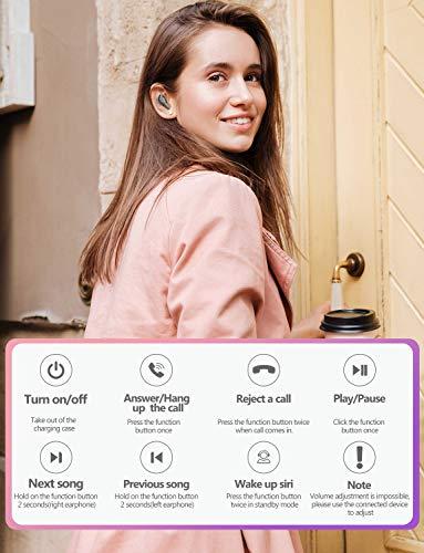 Bluetooth Kopfhörer in Ear V5.0, Sport Kabellos/Wireless Kopfhörer, Staub/Wasserdicht IPX6, 77 Stunden Standby-Zeit, 30 Minuten Schnellladung, Noise Cancelling Ohrhörer Für alle Bluetooth-Geräte - 6