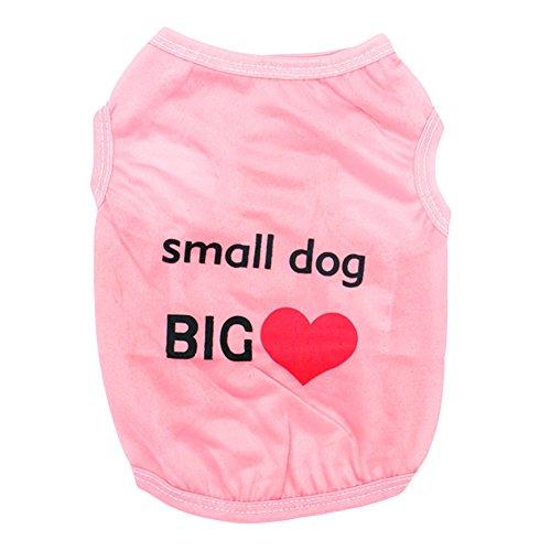 Cocker Spaniel Denim Shirt (tianfuheng Kleine Hunde T-Shirt Weste Puppy niedlicher Herz Print Hund Haustier Kleidung Kostüm)