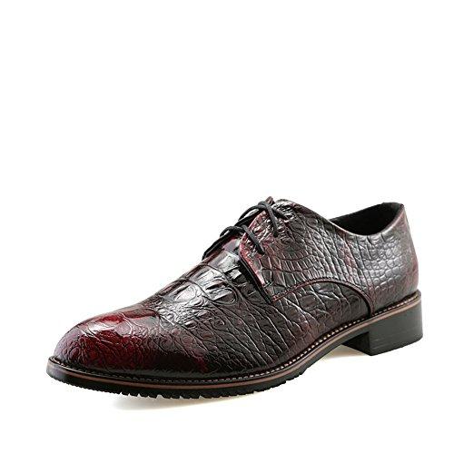Scarpe rioja oxford da uomo casual nuovo coccodrillo cintura a punta britannica scarpe da cerimonia scarpe eleganti in vera pelle di alta qualità a punta marea stile inglese