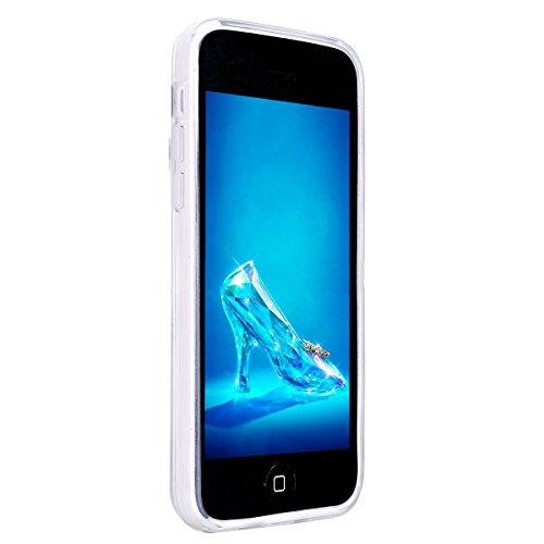 Etsue pour [ iPhone 5C ] Doux Protecteur Coque,TPU Matériau Frame est Transparent Soft Cover pour iPhone 5C,Marbre Motif par Dessin de Mode Case Coque pour iPhone 5C + 1 x Bleu stylet + 1 x Bling pous Vert