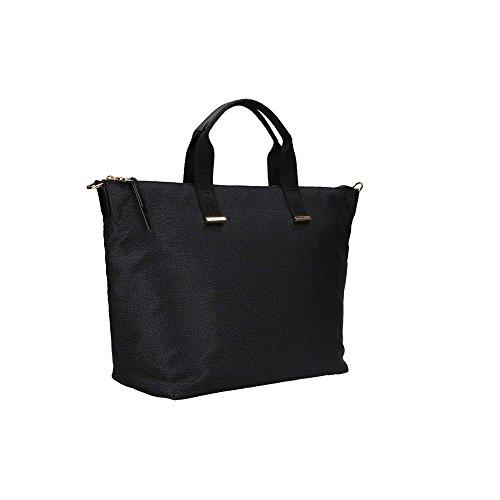 Borbonese 934220296 Shopping Bag Donna Nero