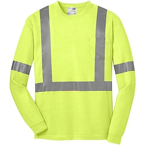 Cornerstone Men's-Maglietta di sicurezza ad alta visibilità