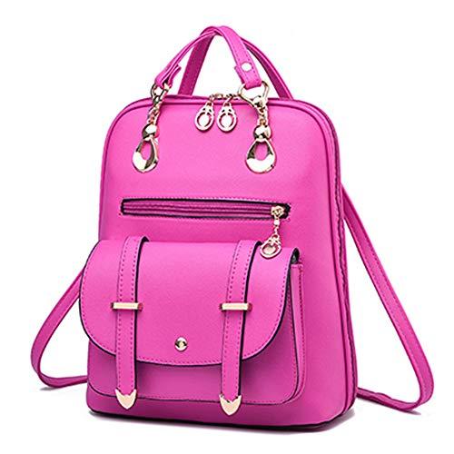 TnXan Women Fashion Backpack Women's Solid Color Backpacks Female Zipper Shoulder Bags Young Girl School Bags Bao