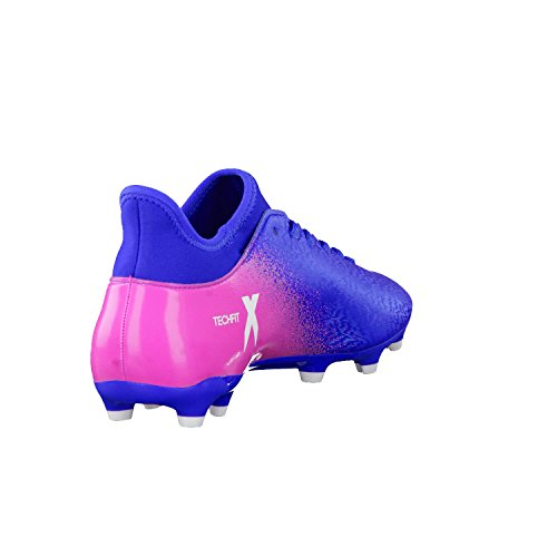 X 16.3 FG Football Boots – Blue/White/Shock Pink – size 7.5