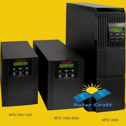 EFFEKTA USV 2000VA MTD Serie Gerät Akku Ausrüstung angeschlossen