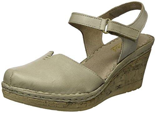 Manitu Damen 920226 Riemchensandalen, Beige (Beige), 40 - Erde-schuh-sandalen Frauen