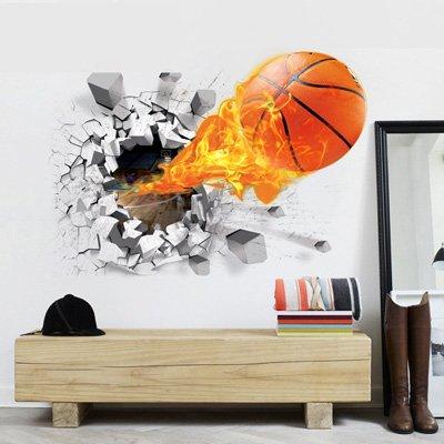 JMHWALL 3D-Wand Aufkleber Basketball Fabrik Großhandel Kreative PVC Feinstaubplakette Abstrakte dreidimensionale Wand Aufkleber, A, 50 cm x 70 (Großhandel Wand-aufkleber)