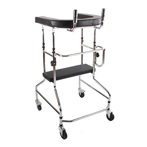 OCYE Klapp Gehhilfe, mit Sitz tragbare ältere Gehhilfe medizinische Gehhilfe Erwachsenen Gehhilfe leichte Unterstützung bis zu 220 Pfund