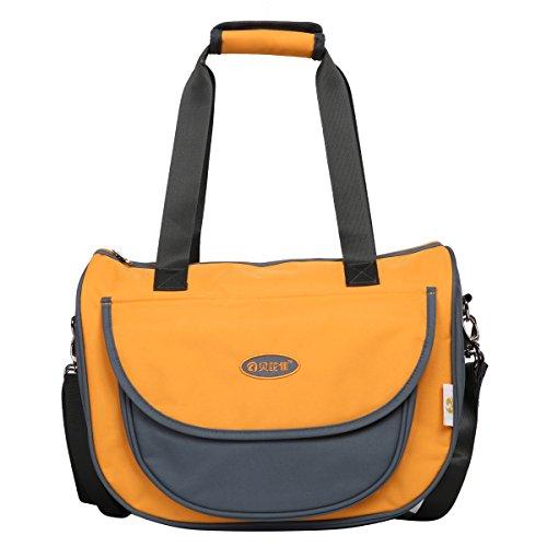Preisvergleich Produktbild Eshow Oxford Gewebe Wickeltasche Mummy Bag Mama Tasche Baby Handtasche Umhängetasche Multifunktional, Orange