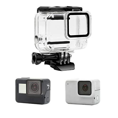 Yangers Boîtier de Protection étanche pour plongée pour caméra GoPro Hero 7 Silver/White Model, Protection de la Cage de Cage sous-Marine en Silicone Accessoires