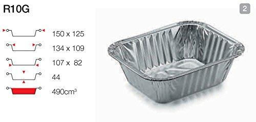 contital Barquette en aluminium 1 portion rg10g 100 pièces