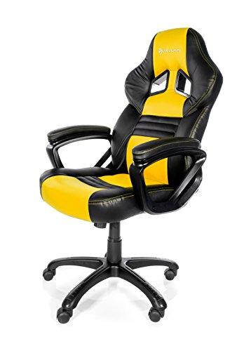 Arozzi Monza Yellow – Silla (Negro, 150 kg, 125 cm, 115 cm, 53 cm, 51 cm)