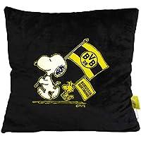 Borussia Dortmund BVB-Snoopy Kuschelkissen schwarz (38x38cm) one Size