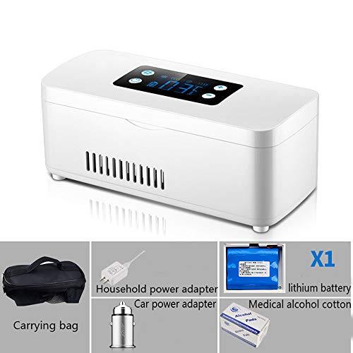 Preisvergleich Produktbild HPDOH Car Refrigerator Tragbare Mini-Insulin KüHlbox,  2-18 ° C Medizinischer KüHlschrank,  Auto KüHlschrank Medikament KüHler,  Geeignet FüR Reisen / Interferon / Lagerung Von Arzneimitteln, Haveabattery