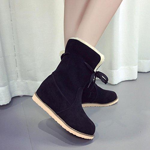 Women Martin Boots Shoes, SOMESUN Delle Donne Delle Signore Zeppa Bassa Del Motociclista Della Caviglia Trim Piatto Caviglia Caldi Scarpe Martin Stivali Black