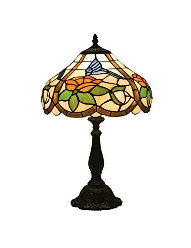 Floral Vintage Stehlampe (KCoob Schreibtischlampe groß Floral und Hummingbird und Lotus-Muster Stehlampe Vintage für Wohnzimmer)