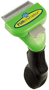 FURminator deShedding Hundefell Bürste / Hunde Fellpflegebürste in Größe S für langhaarige Hunde zur Entfernung von Unterfell und losen Haaren