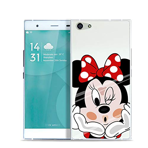 Aksuo for Doogee Y300 Hülle Silikon, TPU Silikonhülle Handyhülle Kratzfest Durchsichtige Stylisch Muster Design Robust Leicht Passgenau Case - Minnie