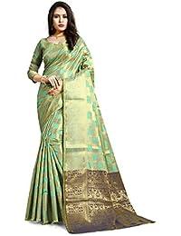 Ruchika Fashion Women's Kanjivaram Silk Saree With Blouse Piece Material