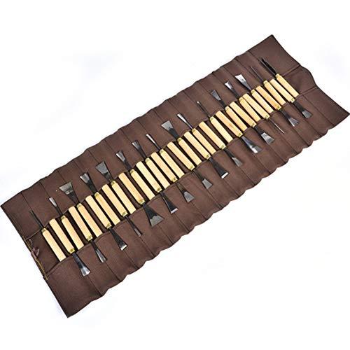 31 STÜCKE Holz Messer Kit Set, Holzschnitzerei Kit Mit aufbewahrungstasche, Professionelle Meißel Set, Für DIY Skulptur [Energieklasse A]