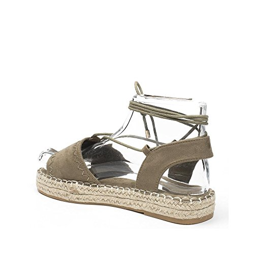 Ideal Shoes, Damen Sandalen Taupe