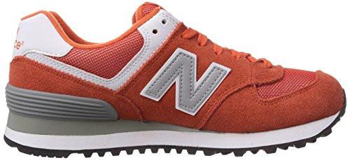 New Balance Ml574 D, Sneakers basses homme Orange - Orange (VAO ORANGE/SILVER)