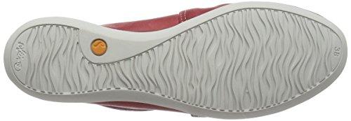 Softinos Olu382sof, Chaussures slip-on Femme Rouge