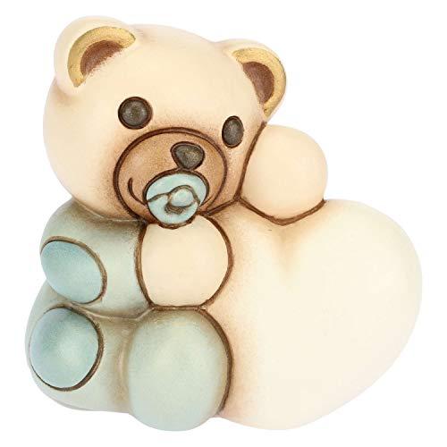 Thun ® - teddy bimbo piccolo con cuore personalizzabile - ceramica - h 6,8 cm - linea i classici