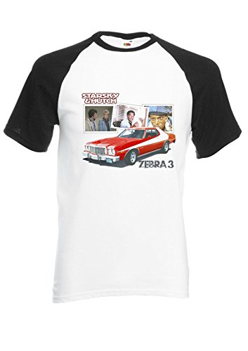 Ford Gran Torino Strasky and Hutch Baseball T-shirt for Adults