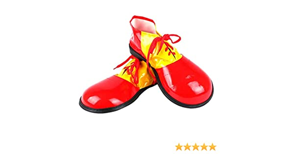Shoes Adult Fancy Red /& Yellow Adults Clown Shoe Covers By Bristol Novelty