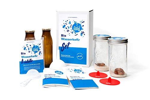 Original Wasser-Kefir Set mit vitalen Bio-Japan-Kristallen und Kefir-Getränk für bis zu 3 L pro...