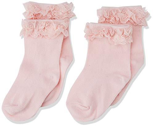NAME IT Baby-Mädchen NBFSOCK 2P STRAWBERRY NELACE NOOS Strumpfhose, Rosa Cream, ((Herstellergröße:68/74)