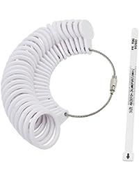 keesin UK anillo de dedo Sizer + tira de medición Calibre para bisutería compromiso Sizer A-Z Set de 26piezas
