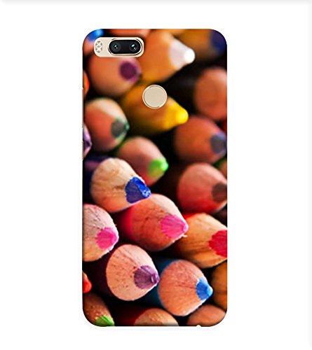 OBOkart Color pencils 3D Hard Polycarbonate (Plastic) Designer Back Case Cover for Xiaomi Mi A1