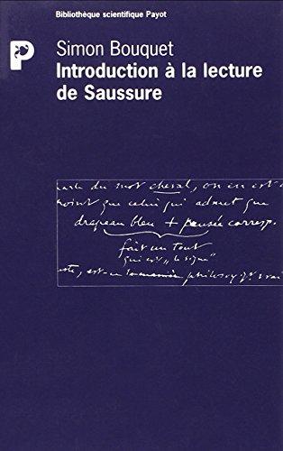 Introduction à la lecture de Saussure