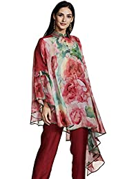 AL - Indian Luxury Women's Chiffon Asymmetrical Hemline Kurta