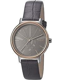 Joop! Damen-Armbanduhr Logo Signature Analog Quarz Leder JP101512009