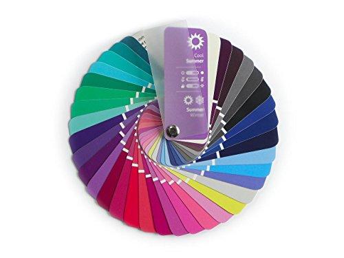 farbkarte sommertyp Farbpass Sommer-Winter (Cool Summer / Toned Winter) als Fächer mit 35 typgerechten Farben zur Farbanalyse, Farbberatung, Stilberatung