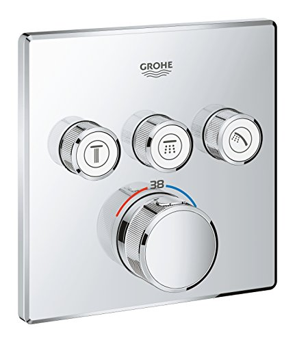 GROHE Grohtherm SmartControl   Thermostate - Thermostat mit 3 Absperrventilen   chrom   29126000