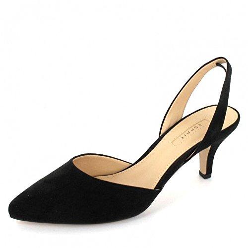 Esprit Sling Sandalette Pyra Sling Größe 39, Farbe: Schwarz