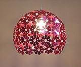 LED Ball Pendelleuchte Aluminium Kronleuchter - Moderne Einfache Deckenleuchte Dekoration(Pink)