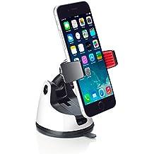 Support universel 360° à fixer sur le tableau de bord ou pare-brise de voitures pour iPhone6S, 6Plus, 5S, 5C, 4, 4S; Samsung Galaxy S6, S5, S4; HTC; Blackberry; Nokia; Google Nexus