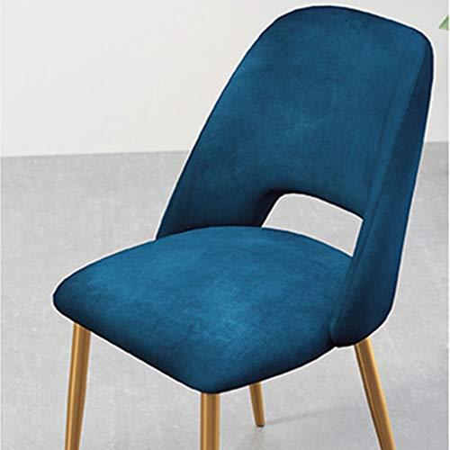 Hx chair - sedia in metallo antiscivolo, per il tempo libero, con schienale del computer, stile moderno, per sedie da pranzo blue